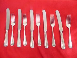 Lot Of 10 Shreve Crump Low Sterling Silver Flatware 5 Forks 5 Knives 760g