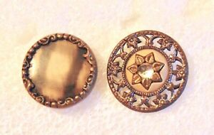 2 Victorian Celluloid Buttons 5109