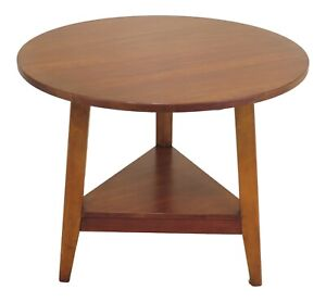 47856ec Round Solid Cherry Occasional Living Room Or Center Table