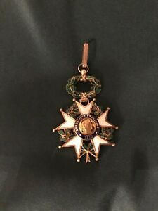 French 19th Century Medal Pendant Enamel And Jewelers Brass