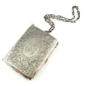 Antique Sterling Silver Compact Notepad Coin Purse Pencil Dance Card Case 237g