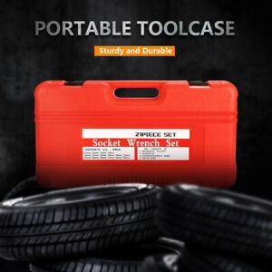 New 20pc 3 4 Inch Drive Air Impact Cr v Steel Socket Metric Set With Metal Case