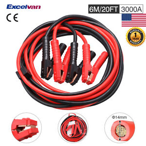 3000amp 20ft Heavy Duty Gague Booster Cable Jumper Cables Power Car Jumper Start