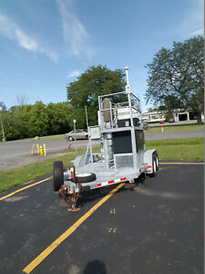 Cow cell Tower On Wheels Trailer With Will burt Telescoping Mast 7 30 906043
