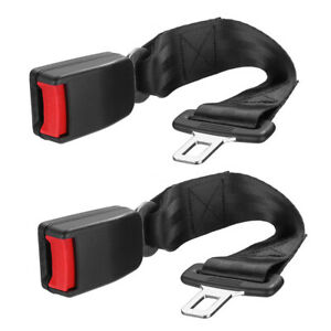 2pcs Universal Car Auto Seat Seatbelt Safety Belt Extender Extension Buckle Us