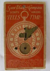 Antique Sundial Compass Scouts Hikers Tells Time George W Moore Co