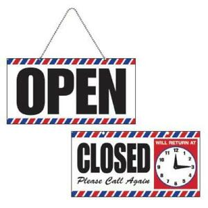 Scalpmaster Open closed Sign With Clock