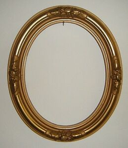 Pretty New Old Stock Vintage Oval Wooden Art Frame With Fruit Detail Giltwood