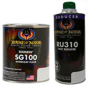 House Of Kolor C2c Sg100 Intercoat Clear Quart With Fast Reducer Quart Kit Sg100