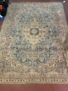 Antique Handwoven Large Persian Oriental Area Rug Carpet 13 X9 Muted Distressed