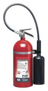 Badger B10v Fire Extinguisher 10b c Carbon Dioxide 10 Lb