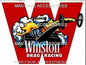 Vintage Winston Drag Racing Vinyl Decal Sticker 4372