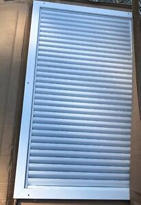 Activar Cpg White Powder Coated Air Louver Approx 33 5 x19 5 Rough Opening