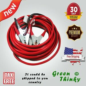 New Abn Jumper Cables 25 Feet Long 2 gauge 600 Amp Vehicle Booster Cables