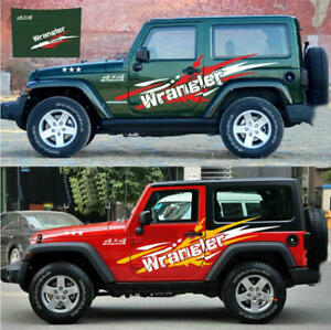 Graphics Cross Country Car Sticker Bonnet Decal Fit Jeep Wrangler Side Doors