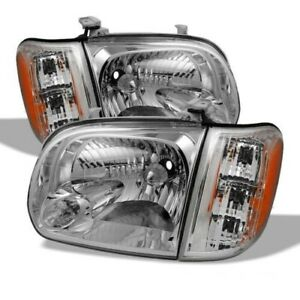 New Headlights Pair Right Left For Toyota Tundra 2000 2004 Pickup 4 Door 4pic