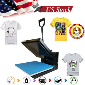 15x15inch Clamshell Heat Press Digital Machine Sublimation Transfer For T shirt