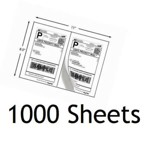 Corner 1000 8 5x5 5 Half Sheet Self Adhesive Shipping Labels For Usps