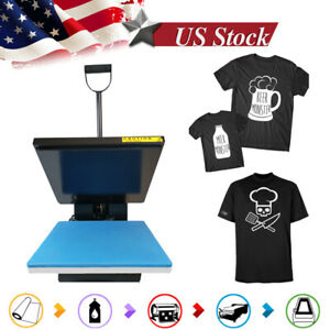 Clamshell Heat Press Sublimation Transfer Printer Machine 15x15in For T shirt Us