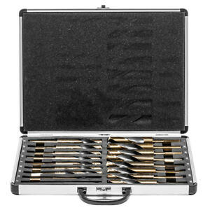 17pc Large Size Sized Steel Metal Silver And Deming Tool Drill Bit Set Demming