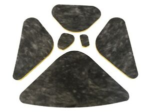 1960 Buick Electra Lesabre Invicta Hood Insulation Kit 6 Pieces Yellow Back