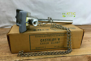 Fisher Castaloy r Laboratory Chain Clamp 5 Shaft 19 Chain Length Brand New