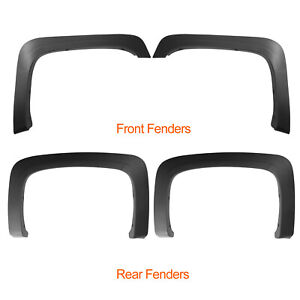 Factory Style Fender Flares Fit For 2007 2013 Chevy Silverado 1500 2500hd 3500hd
