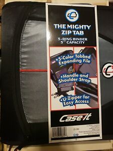 Case It The Mighty Zip Tab 3 Ring Binder 3 Capacity New