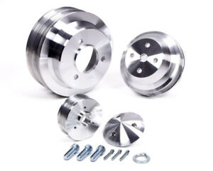 March Performance Aluminum Bbc Serpentine High Water Flow Pulley Kit P N 7330
