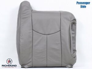 2003 2004 Chevy Tahoe Lt Z71 Ls Passenger Side Lean Back Leather Seat Cover Gray