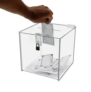 8 X 8 Locking Ballot Donation Suggestion Box Display Counter Top