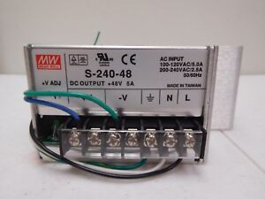 Made Well Enclosed Switching Power Supply 48v 5a s 240 48