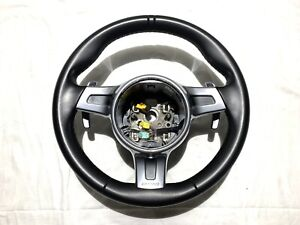 Porsche 997 Carrera 911 Turbo Cayman Boxster Pdk Sport Steering Wheel Black Oem