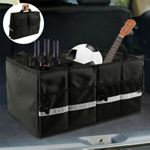 Car Trunk Foldable Boot Organiser Collapsible Storage Holder Bag Travel Tidy Box