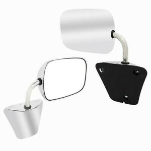For 73 86 Chevy C K Pickup Truck Stainless Rear View Mirror Left Right Side Pair