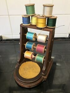 Vintage Shop Display Sewing Cotton Reel Stand