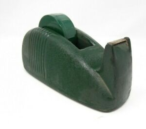 Vintage Green Scotch Art Deco Tape Dispenser Whale Tail Cast Iron Industrial 6lb