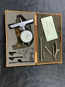 Mitutoyo Dial Depth Gage Micrometer With Case