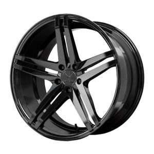 22x10 5 Verde Parallax 5x120 27 Gloss Black Wheels set Of 4