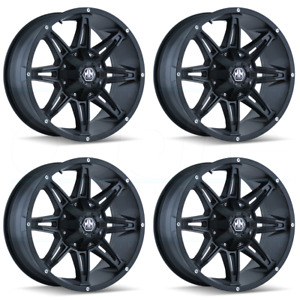 22x9 5 Mayhem Rampage 5x5 5 5x150 6 Matte Black Wheels Rims Set 4