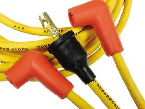 Accel Spark Plug Wires Super Stock 8mm Yellow 90 Degree Boots Universal V8 Set