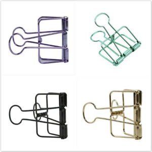 Metal Candy Color Binder Clips File Paper Clip Photo Stationary Office Supplies