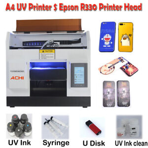 A4 Uv Printer 6 Color For Phone Case Glass Metal Wood Pcb Signs 3d Embossed
