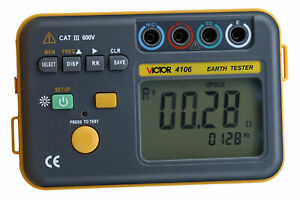 Vc4106 Digital Insulation Resistance Tester Earth Ground Table