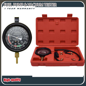 Vacuum Tester Gauge Leak Carburetor Pressure Fuel Pumpkit W Box