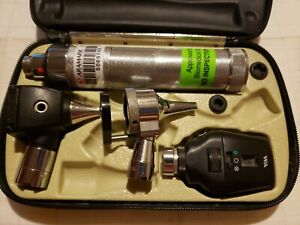 Welch Allyn Otoscope Opthalmoscope 3 5v Diagnostic Set With Handle And Case Used