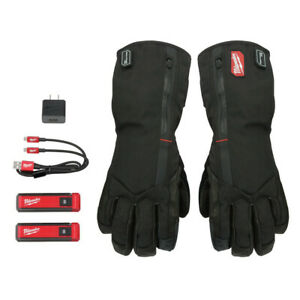 Milwaukee 561 21l Redlithium Usb Heated Gloves With Batteries large New