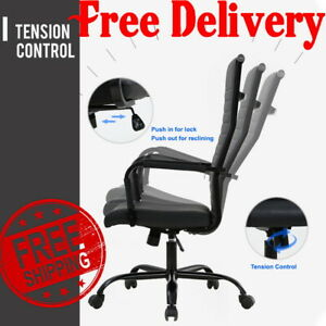 High Back Video Gaming Chair Ergonomic Office Desk Leather Racing Big And Tall