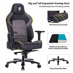 Killabee Big And Tall 440lb Gaming Racing Office Chair With 4d Adjustable Arms