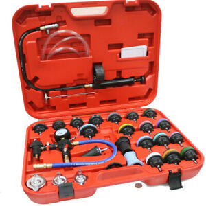 28pc Adapters Radiator Pressure Tester Test Kit Coolant Vacuum Purge Refill Us